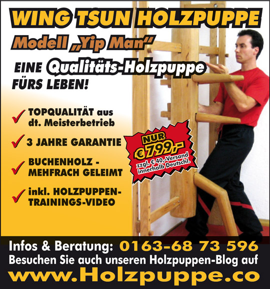 Wing Tsun Holzpuppe Modell
